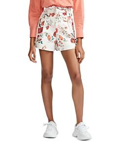 Maje - Iflor Floral Print Shorts