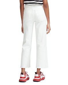 Maje - Pamier High Rise Cropped Jeans in White