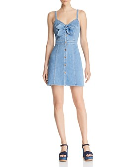 7 For All Mankind - Bow-Detail Denim Dress
