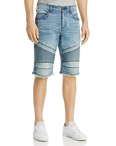 True Religion - Gene Denim Moto Shorts