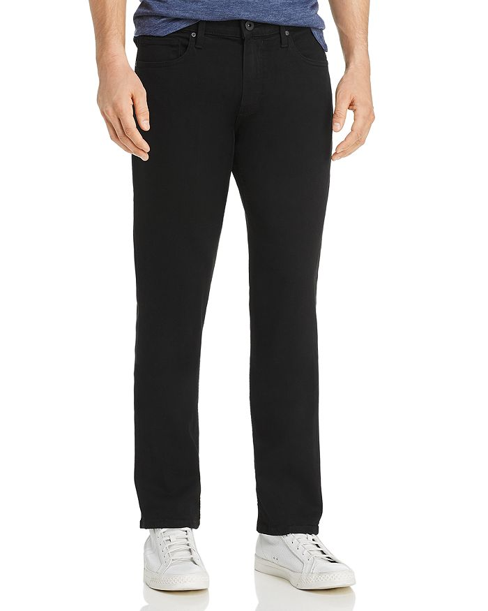 PAIGE - Normandie Straight Fit Jeans in Black Shadow