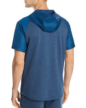 Under Armour - Short-Sleeve Mixed-Media Hooded Sweatshirt