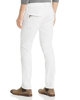 True Religion - Rocco Classic Moto Skinny Fit Jeans in Optic White