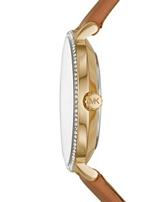 Michael Kors - Pyper Brown Leather Strap Watch, 38mm