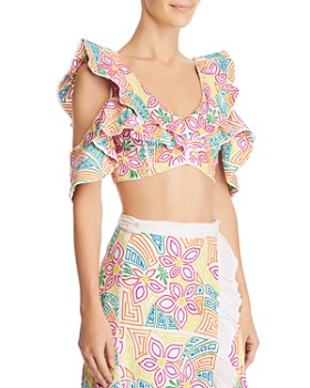 All Things Mochi - Saba Cold-Shoulder Crop Top