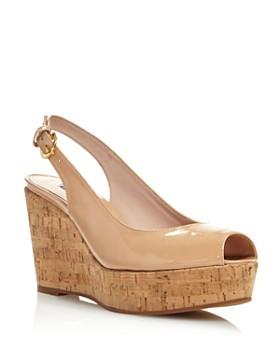 4ca7aa9c501e Stuart Weitzman - Women s Jean Peep Toe Platform Wedge Sandals ...