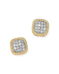Bloomingdale's - Pavé Diamond Stud Earrings in 14K Yellow Gold, 0.25 ct. t.w. - 100% Exclusive