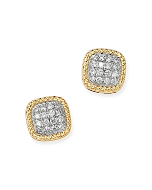 Bloomingdale's Pave Diamond Stud Earrings in 14K Yellow Gold, 0.25 ct. t.w. - 100% Exclusive