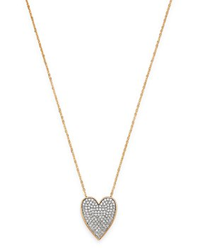 Bloomingdale's - Pavé Diamond Heart Pendant Necklace in 14K Yellow Gold, 0.50 ct. t.w. - 100% Exclusive