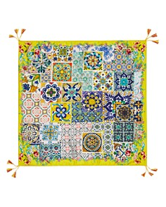 Johnny Was - Morocco Tile-Print Silk Square Scarf