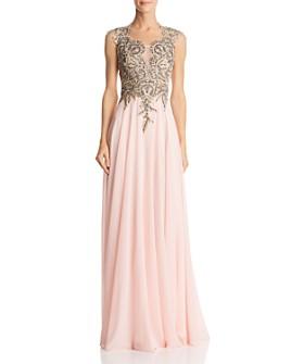 Basix - Embellished Chiffon Gown