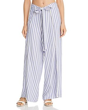 Echo Striped Breeze Swim Cover-Up Pants