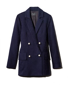 No Frills by Mother of Pearl - Double-Breasted Faux Pearl Button Jacket