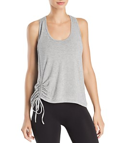 AQUA - Ruched Drawstring Racerback Tank - 100% Exclusive