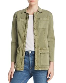 Current/Elliott - The Laced-Placket Jacket