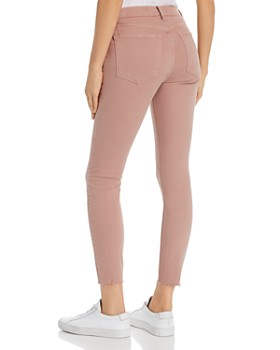 a226bfb4f63633 ... FRAME - Le High Raw-Edge Skinny Jeans in Dusty Rose