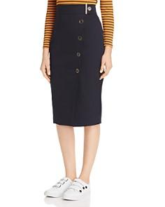 KAREN MILLEN - Button-Front Pencil Skirt - 100% Exclusive