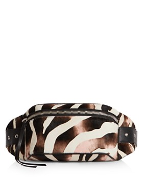ALLSAINTS - Captain Zebra Print Belt Bag