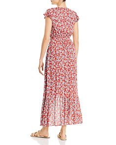 Olivaceous - Tie-Front High/Low Dress