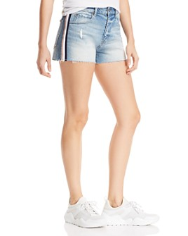 Pistola - Winston High-Rise Cutoff Denim Shorts in Med Blue