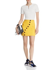 Acler - Golding Denim Mini Skirt