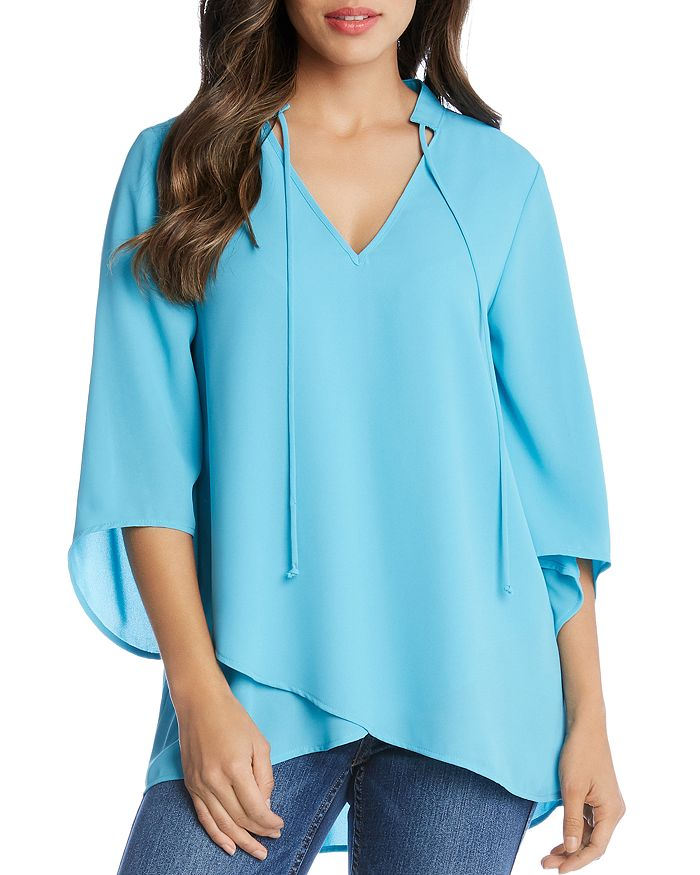 Karen Kane - High/Low V-Neck Top