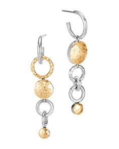 JOHN HARDY - 18K Yellow Gold & Sterling Silver Dot Interlink Drop Earrings