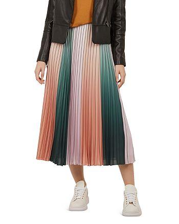 Ted Baker - Selmma Pleated-Stripe Midi Skirt