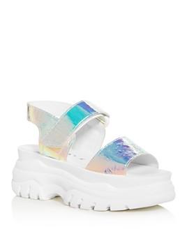 Joshua Sanders - Women's Spice Light Hologram Slingback Platform Sandals