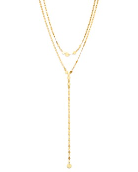 "Moon & Meadow - Disc Y-Necklace in 14K Yellow Gold, 17"" - 100% Exclusive"