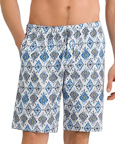 Hanro - Tile-Print Drawstring Shorts