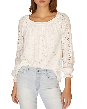 Sanctuary Tops BLOOMING EYELET TOP