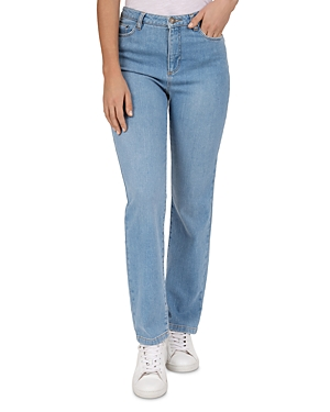 Gerard Darel Noemie High Rise Straight-Leg Jeans in Blue