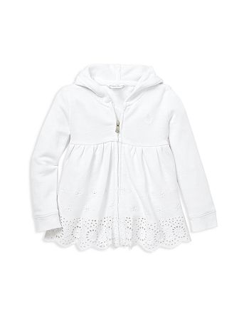 Ralph Lauren - Girls' Eyelet French Terry Hoodie - Baby