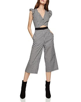 BCBGENERATION - Gingham Cropped Jumpsuit