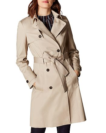 KAREN MILLEN - Classic Double-Breasted Trench Coat
