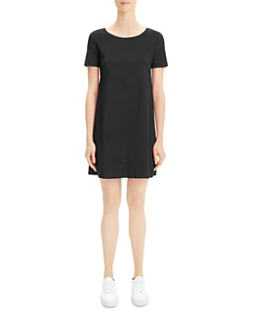 21d26892ff9da Theory - Paneled Mini Shift Dress ...