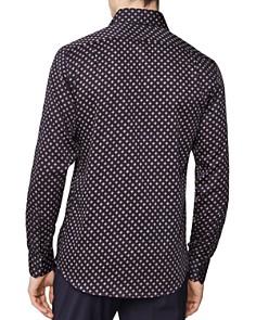 REISS - Pisa Medallion Print Regular Fit Button-Down Shirt