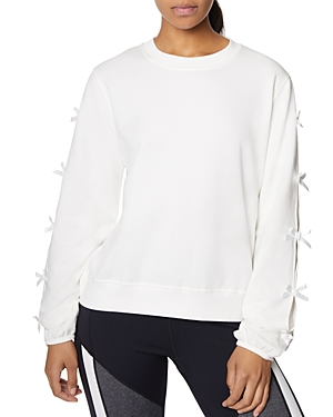 Betsey Johnson T-shirts BOW-SLEEVE SWEATSHIRT