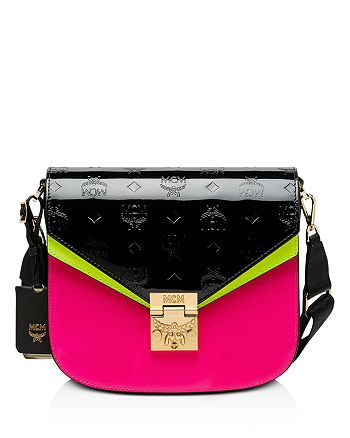 MCM - Patricia Monogrammed Patent Leather Crossbody