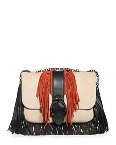 Longchamp - Amazone Small Color-Block Suede Shoulder Bag