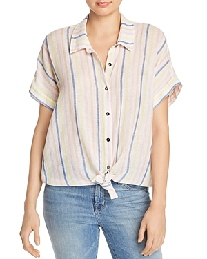 Splendid Tie-Hem Striped Top