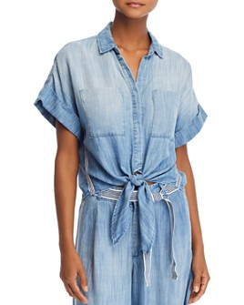 Bella Dahl - Tie-Hem Chambray Shirt