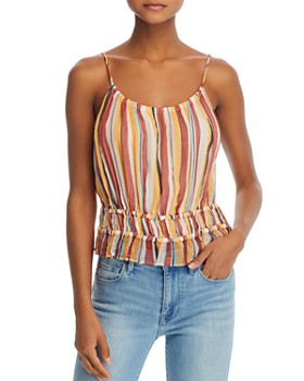 060cd8586366cd FRAME - Striped Silk Tank Top FRAME - Striped Silk Tank Top. Quick View