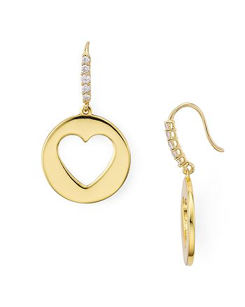 kate spade new york - Circle Heart Earrings