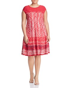 NIC and ZOE Plus - Garden Party Fit-and-Flare Dress