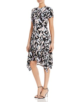 7e2944e16f DKNY - Floral-Printed Handkerchief-Hem Dress ...
