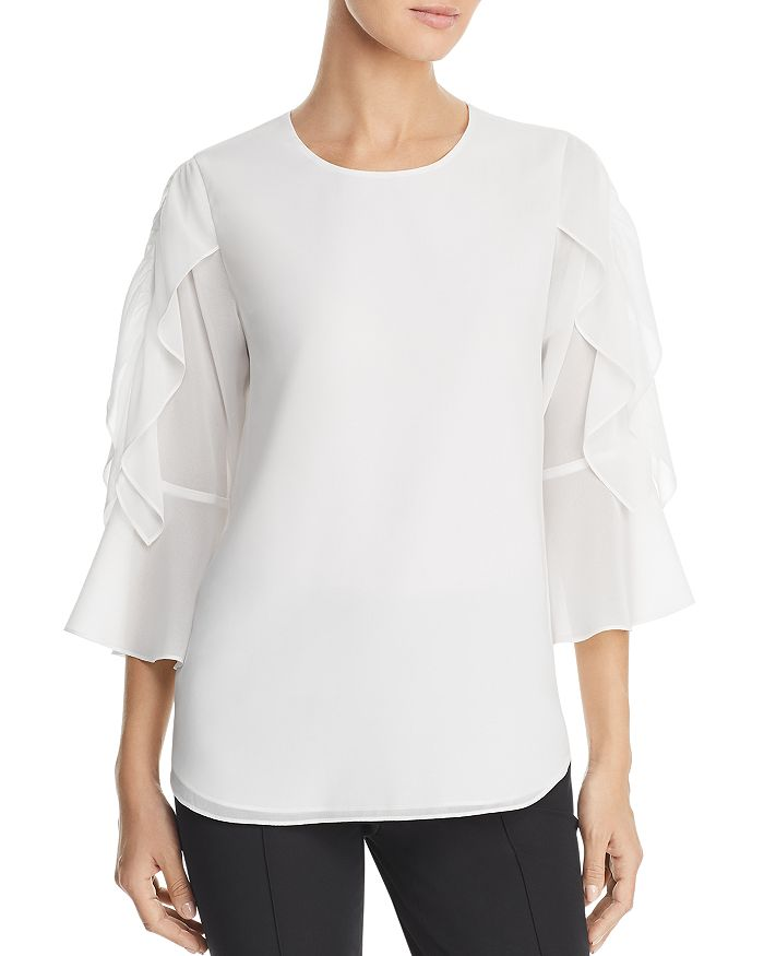 Calvin Klein - Ruffle-Sleeve Top