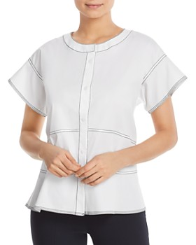 aae30667f07f8 DKNY - Contrast-Stitched Blouse ...