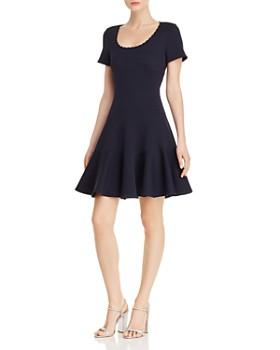 Rebecca Taylor - Textured Knit Skater Dress
